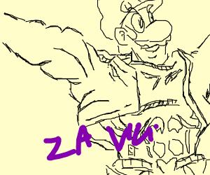 Luigi uses Za Warudo
