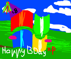 Windows XP's 18th birthday!