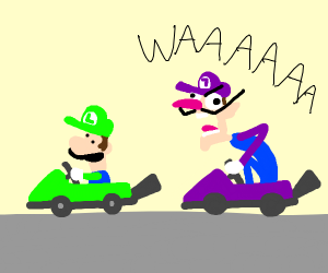 luigi and waluigi kart racing