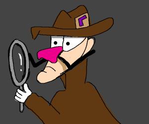 Waluigi as Sherlock Holmes