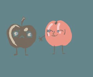 Hey apple... I'm a peach!