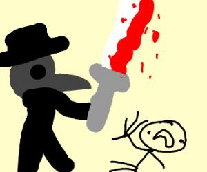 Murderous plague doctor