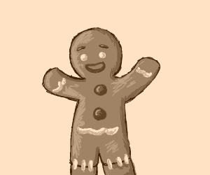 Poorly made Gingerbread man