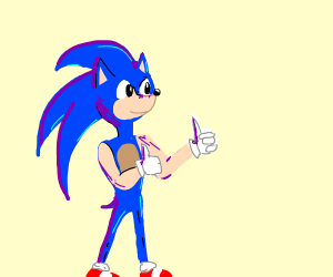 sonic gives you the thumbs up