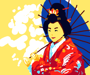 Japanese woman in traditional clothing