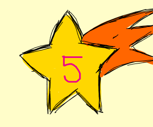 Star with 5 on it