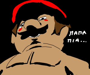 mario up close and intimate
