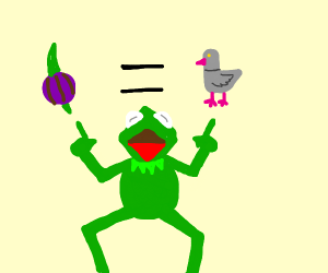 kermit trying to convince kids onions are coo