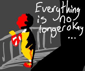 depressed ronald mc donald
