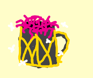 fancy cup full of worms