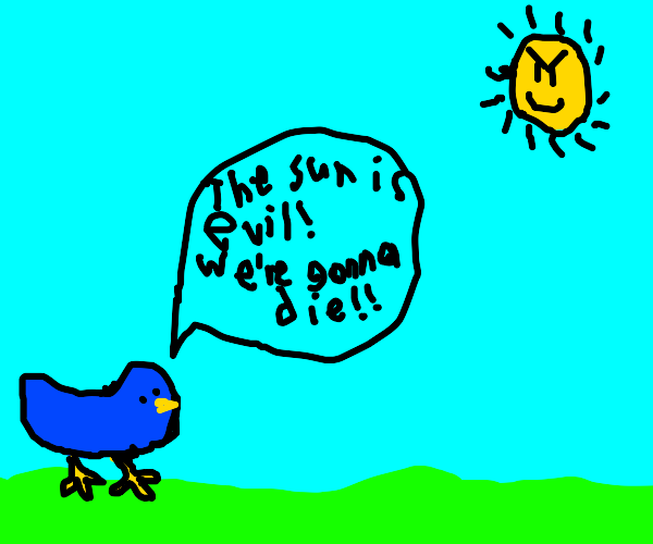 bird says the sun is evil we're all gonna die