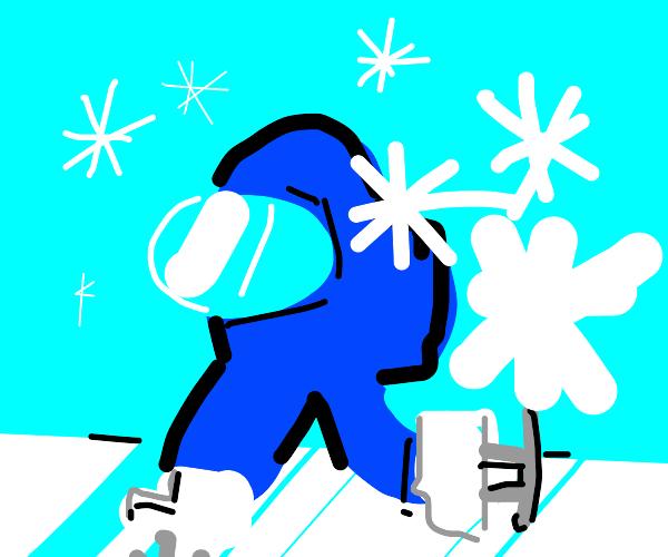 among us ice skating