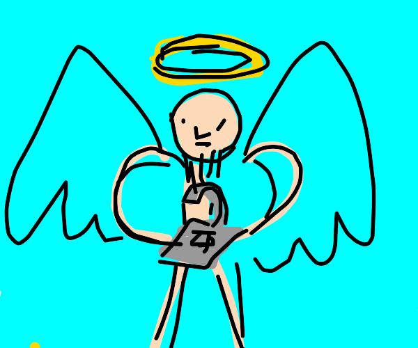god holding tiny sink