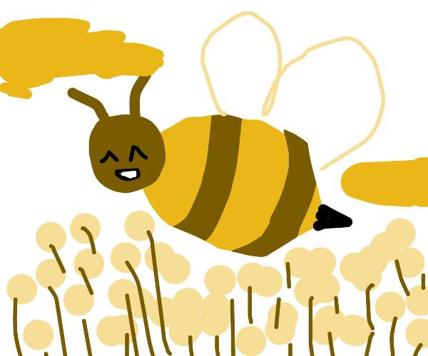 Big ol' bumble bee just bumblin' around