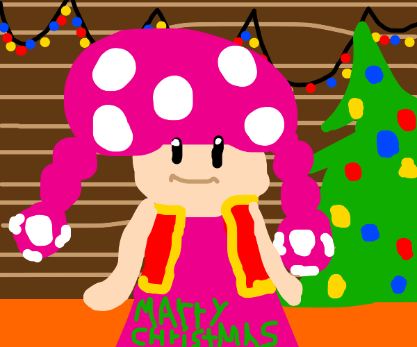 Toadette wishes you a Merry Christmas
