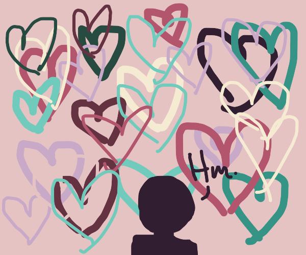 wall of hearts