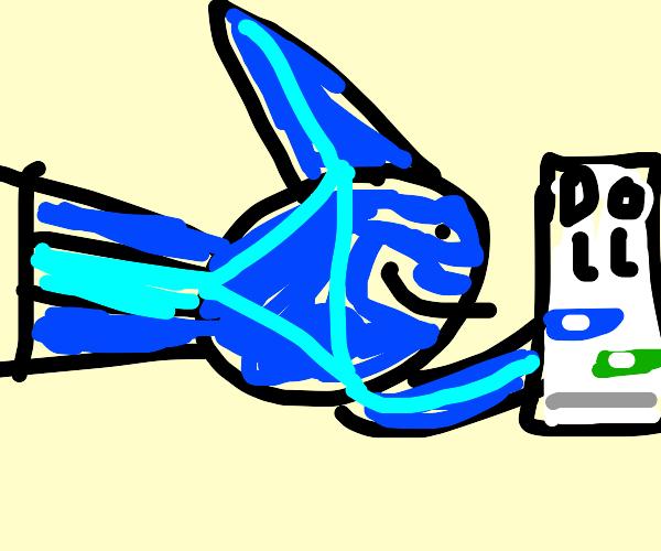 Swordfish texting Doll