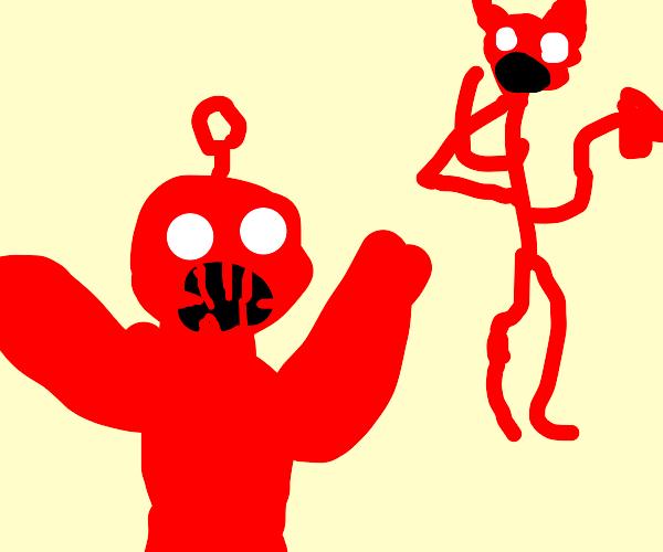 teletubby scares demon