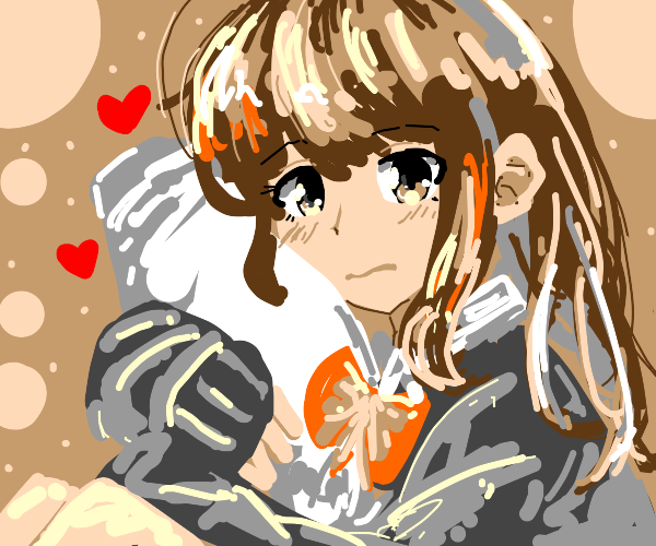 Anime girl w/ heart