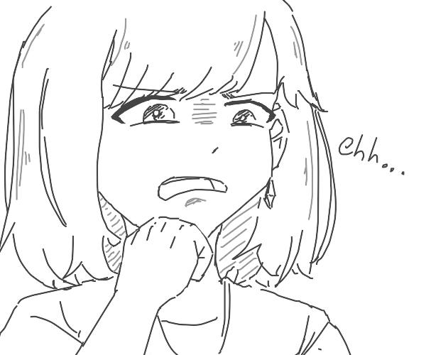 anime lady not amused