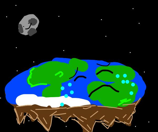 Earth is flat and sad