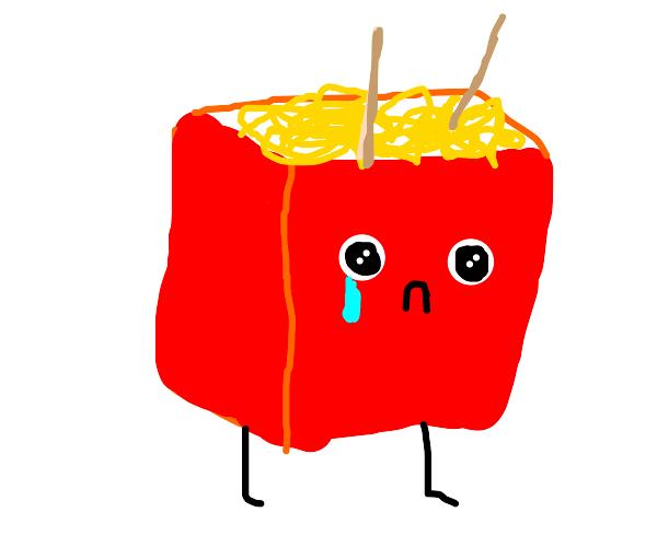 Ramen is vewy sad