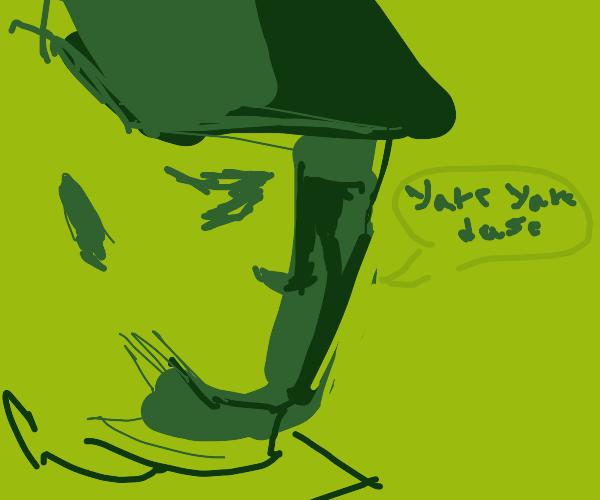 "Jotaro Kujo saying ""yare yare daze"""