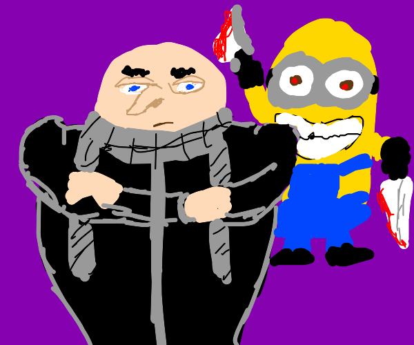 Gru is about to get assassinated.