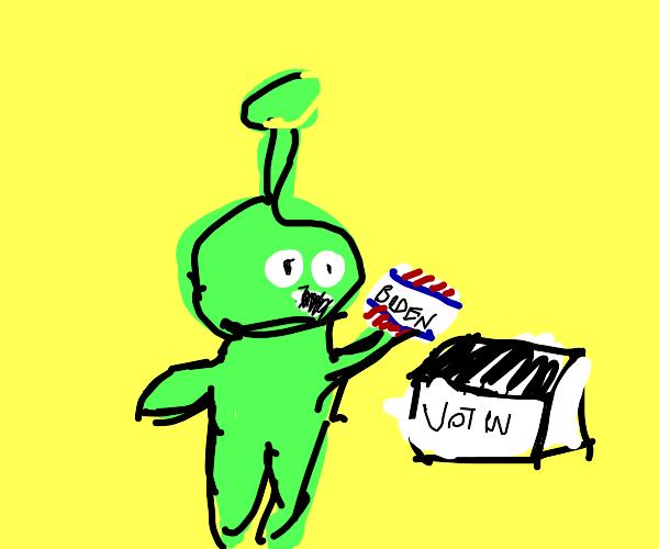 Alien votes for Biden (as you should)