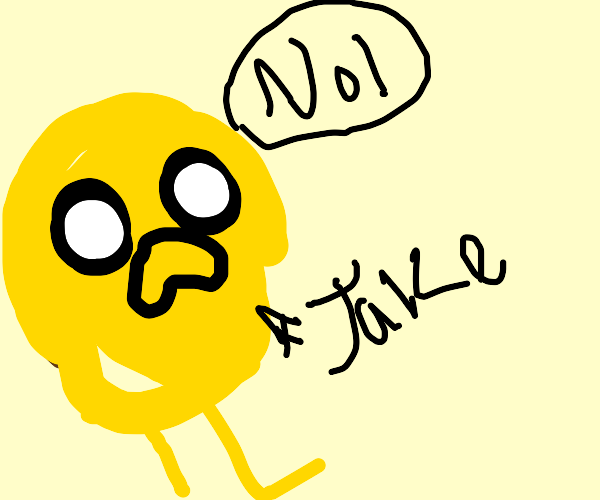 Jake the dog disapproves