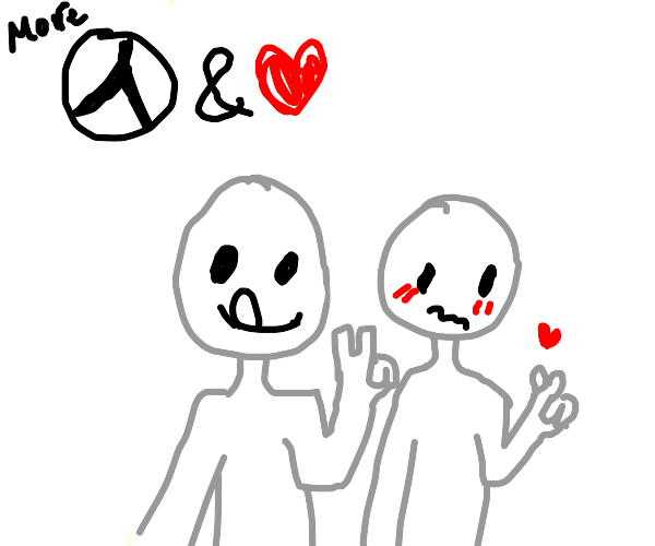The world needs more love and peace