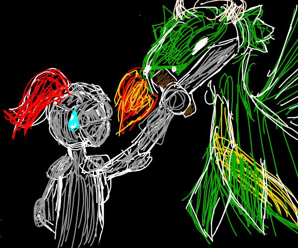 knight battles dragon