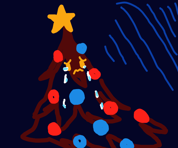 depressed christmas tree