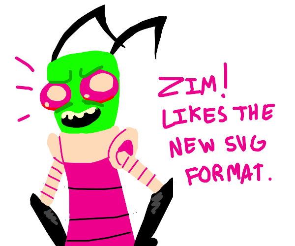 Zim likes the new svg format