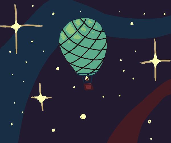 Hot Air Balloon Spaceship