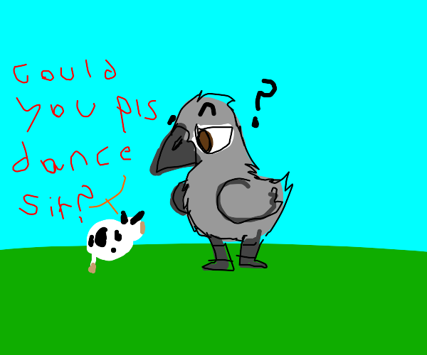 tiny cow ask crow to dance