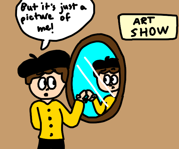 Art critic tricked into critiquing a mirror