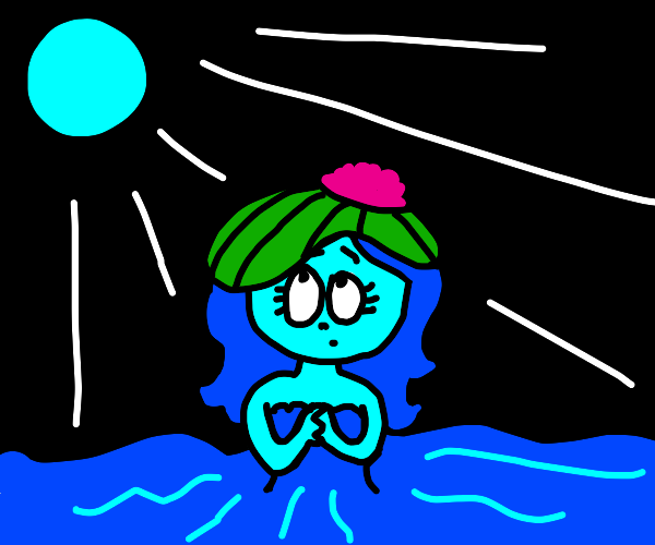 Water Nymph with a lily pad hat