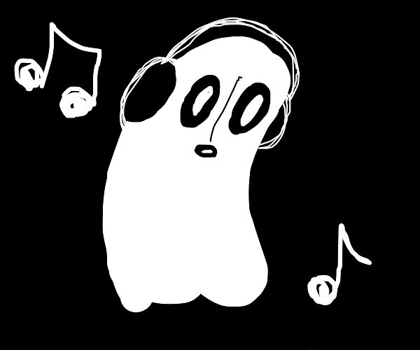 napstablook jammin' out