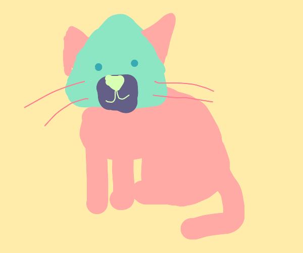 Cat with onigori head