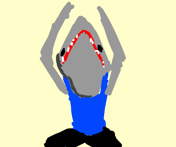 Shark yoga instructor