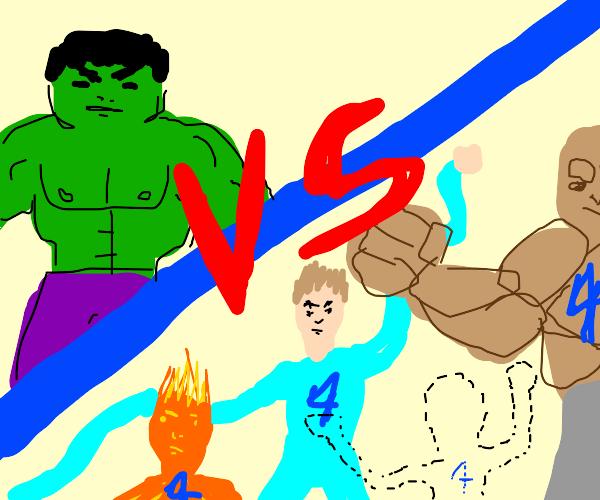 the hulk versus the fantastic 4