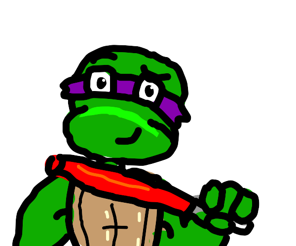 Ninja turtle with a light saber