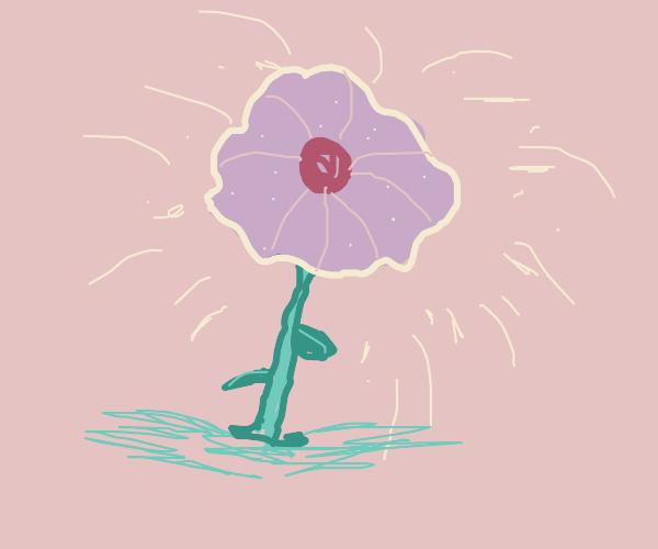 Glittery flower
