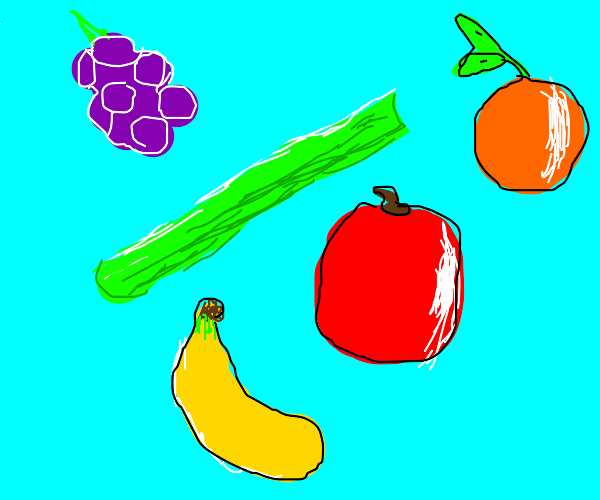 Eating Celery with Fruit