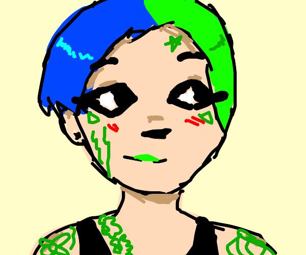 tatooed girl
