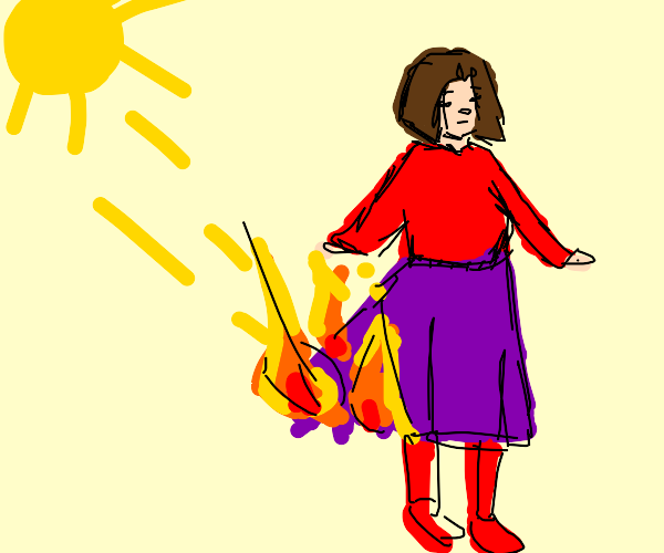 sun burns skirt