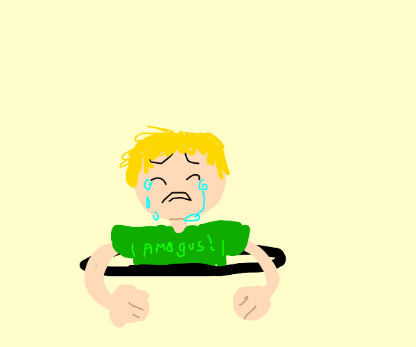 A crying child is stuck in a hole underground