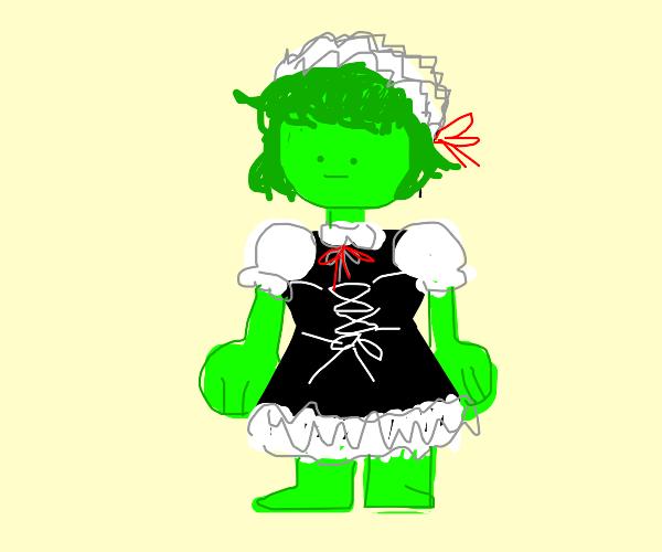 Green maid boy