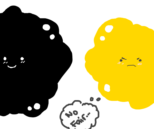Yellow void being mean to black void